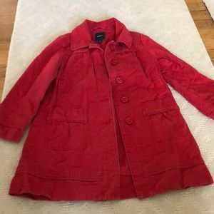 Gap kids pea coat size 6/7 no holes or stains
